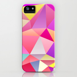 Society6 - Pink Polygons iPhone & iPod Case