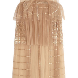 Chloé - Sequined tiered tulle dress