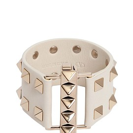 VALENTINO - FW2015 STUDDED LEATHER CUFF BRACELET