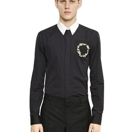 GIVENCHY - SS2015 FLORAL EMBROIDERED COTTON POPLIN SHIRT