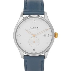 Farer - Meakin Stainless Steel and Leather Watch