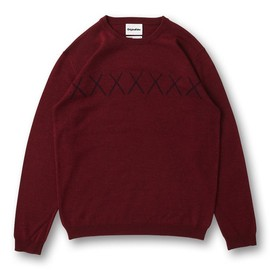 OriginalFake - X LINE CREW NECK KNIT