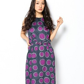 marimekko - petrooli by Annika Rimala no sleeve dress dark grey/violet