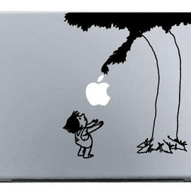 macbook decal glasses giving tree  fun macbook sticker decal vinyl made - macbook, macbook air, mac pro, ipad