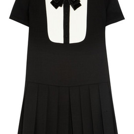 SAINT LAURENT - Sequin bow-embellished wool dress