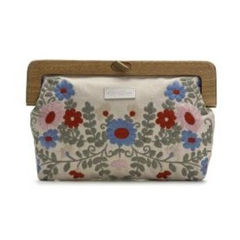 apple & bee - Wooden Handle Clutch