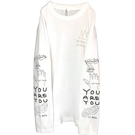 OMIYAGE - POSITIVE GRAFFITI L/S TEE (WHITE)