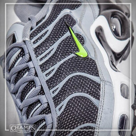 Nike, CHamps Sports - Air Max Plus (aka Air Tuned 1) - Grey/White/Volt?