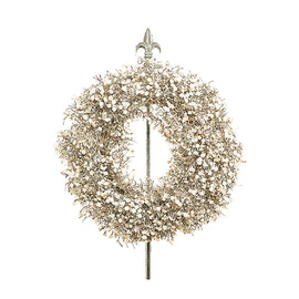 KATHERINE'S COLLECTION - CHRISTMAS WREATH & STAND