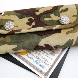 Bill Wall Leather - Camouflage Large Leather Currency Wallet