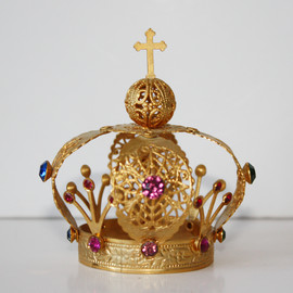 Paris Couture Antiques - Multi Color Stone Vintage Saints Crown