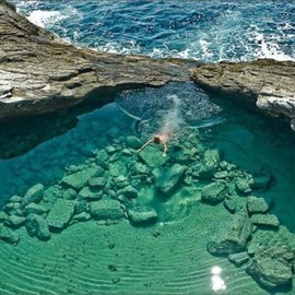 Thassos, Greece - 'natural pool'