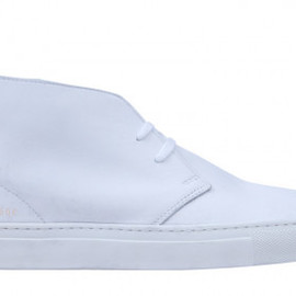 common project - s Chukka in Washed Leather (White)