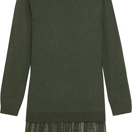 REDValentino - Cashmere and point d'esprit mini sweater dress