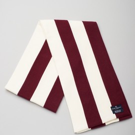 Smart Turnout - Harvard Scarf (burgundy/white)