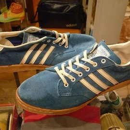 """adidas - 「<used>70's adidas BJK blue""""made in FRANCE"""" size:W's GB8-8/h(25.5-26cm) 13800yen」完売"""