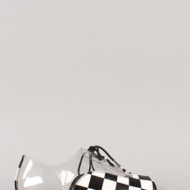 Privileged - Harting Checkerboard Lucite laceup