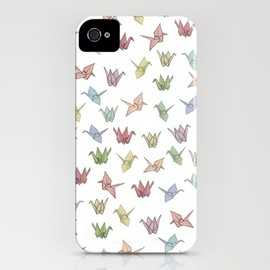 Origami Cranes iPhone Case by Bryony Crane | Society6 - Origami Cranes iPhone Case
