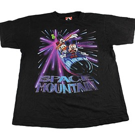 Disney - Vintage Disneyland Space Mountain Shirt Made in USA Mens Size Large