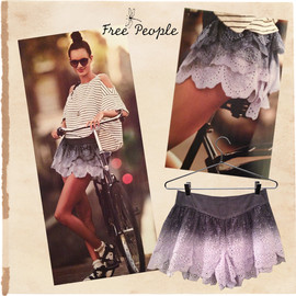 Free People - Lace Frill Short Pants