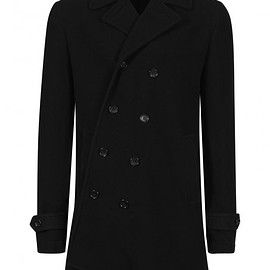 COMME des GARCONS HOMME PLUS - 15AW Asymmetric Buttoned Coat Black