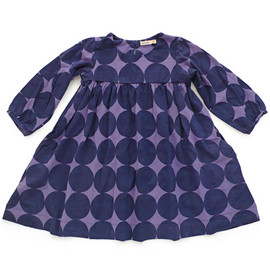 kit+lili - Kids hanna dress / ink big circles