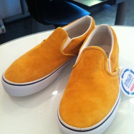 VANS - CALIFORNIA  CLASSIC SLIP-ON CA   (Pig Suede)   YELLOW
