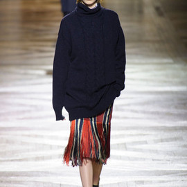 Dries Van Noten - 2013f/w fringe skirt