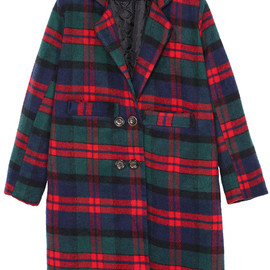 Notch Laple Check Cocoon Coat pictures