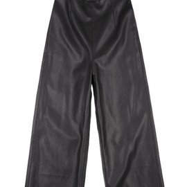 Front Row Shop - Leather ankle trousers