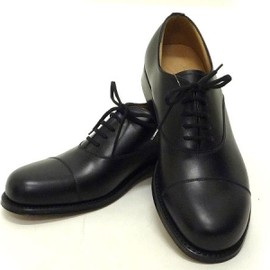 church's for jil sander - cap toe oxford shoes black calf