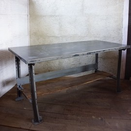 LYON - iron & wood high table