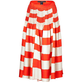 MARC BY MARC JACOBS -  Rouge/Wheat Bella Stripe Skirt