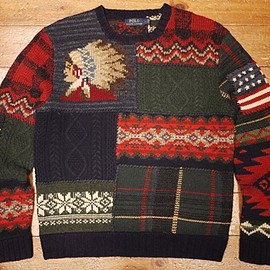 POLO RALPH LAUREN - Pachwork sweater