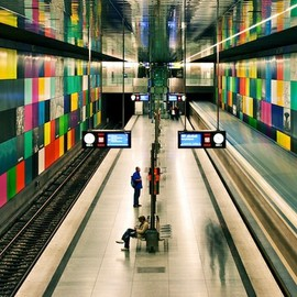 Munich  - Georg-Brauchle-Ring Subway Station