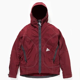 and wander, アンドワンダー - dry touch stretch jacket bordeaux