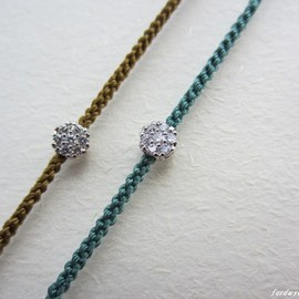 fordwych jewellery - ブレスレット【paves】ビリジアン&シルバー