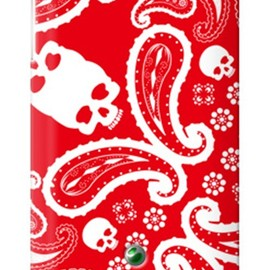 SECOND SKIN - ペイズリー TYPE2 レッド / for  Xperia SX SO-05D/docomo