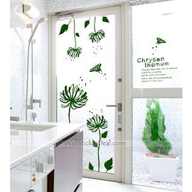 wallstickerdeal.com - Julia Chrysanthemun Flower Wall Stickers