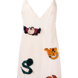 Au Jour Le Jour - embroidered slip dress