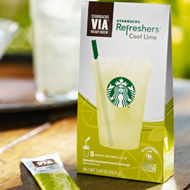 STARBUCKS - Starbucks VIA Cool Lime refreshers