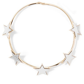 GIVENCHY - Star choker in pale-gold and silver-tone