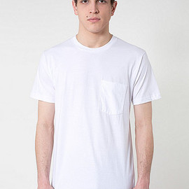 American Apparel - Fine-Jersey Crew Neck Pocket T-Shirt