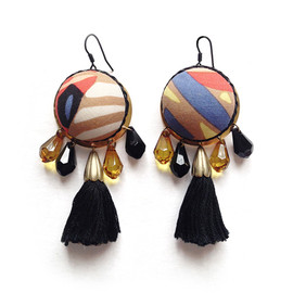 YAGA - Domes Textile Earrings  /  ピアス/イヤリング