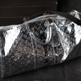 LOUIS VUITTON - metallic LV duffel