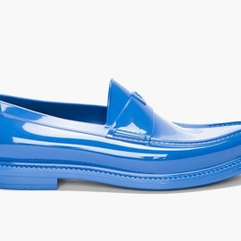 YSL - cobalt show loafers