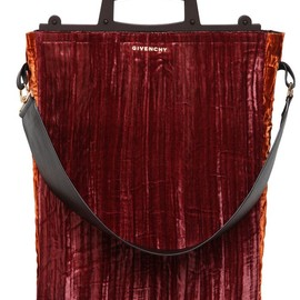 GIVENCHY - FW2014 LARGE RAVE COTTON VELVET BAG