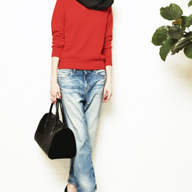 Ron Herman - kint ¥39,900denim ¥29,400cap ¥22,050snood ¥60,900bag ¥57,750pumps ¥79,800