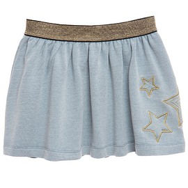Little Marc Jacobs - Blue Jersey Skirt with Stars