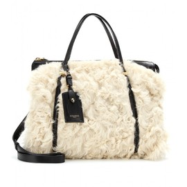 Nina Ricci - BABY BALLET SHEARLING AND LEATHER TOTE